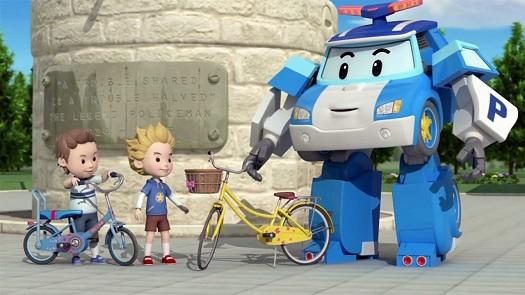робокары и велосипед